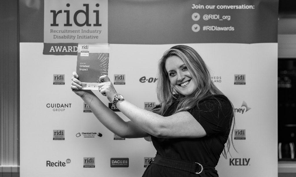 Victoria Wood, Manpower celebrates winning the Greatest Impact Award