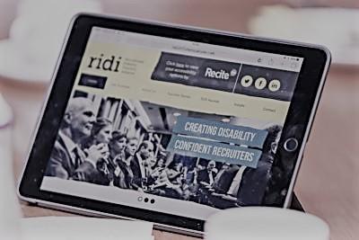 RIDI website on Ipad tablet