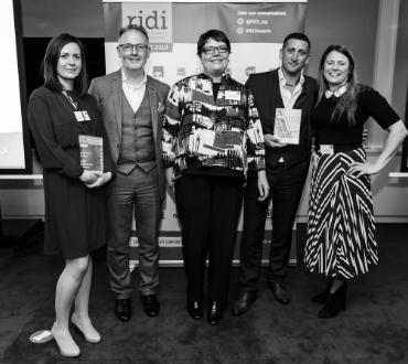 Black and white photo of 2019 RIDI Award winners